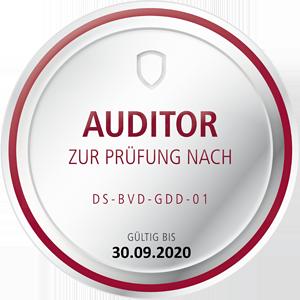 Zertifizierter Datenschutzauditor (DSZ) zur Durchführung von Audits nach Datenschutzstandard